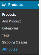 Product Attributes WooCommerce